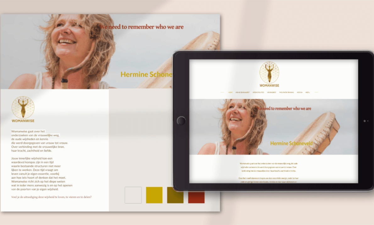 Womanwise webdesign Tekstenfee